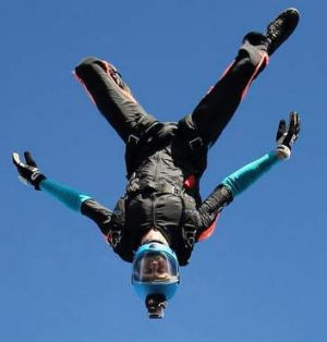Peter Farley on one of his skydives.