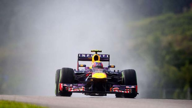 Mark Webber during qualifying for the Malaysian Grand Prix.