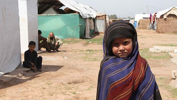 Homesick: Fatima, who has spent nearly half of her short life in Jalozai Camp.