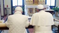 """Pope Francis to Pope Benedict: """"We are brothers"""" (Video Thumbnail)"""