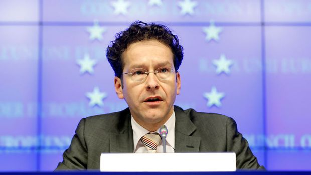 Eurogroup President Jeroen Dijsselbloem ... holds a news conference at the end of the Eurogroup meeting on Cyprus.