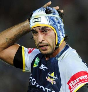Almost away: Johnathan Thurston.
