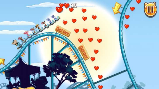 In Nutty Fluffies, you can get some serious air with a bunch of cute animals on a roller coaster.