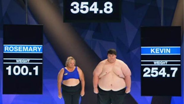 Weigh in: Kevin sets a new record for the show.