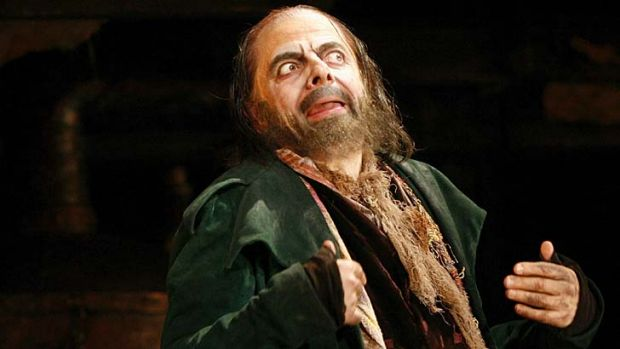British actor Rowan Atkinson played the character of Fagin in a theatre production of Oliver in London in 2009.