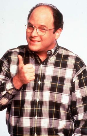 "Jason Alexander as George Costanza from ""Seinfeld""."