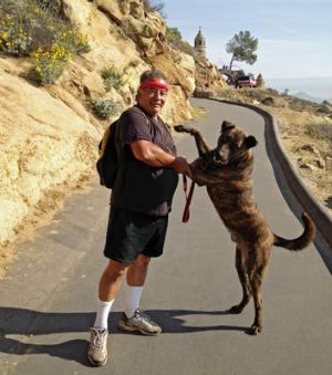"""Ramon Llamas and Mole: """"The dog found him. He pulled me over to the guy."""""""
