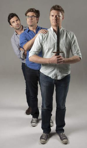 The Jungleboys (from left) Trent O'Donnell, Jason Burrows and Phil Lloyd.