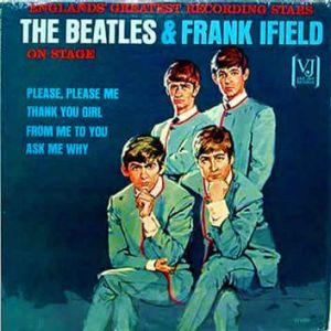 Album cover: The Beatles & Frank Ifield on stage.
