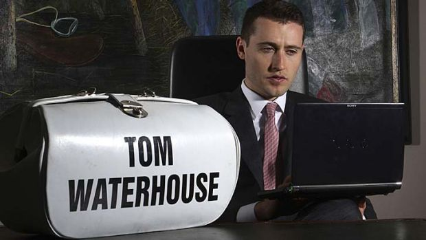 Odds man out: Channel Nine has conceded that Tom Waterhouse's roles as bookmaker and commentator had been ''blurred''.