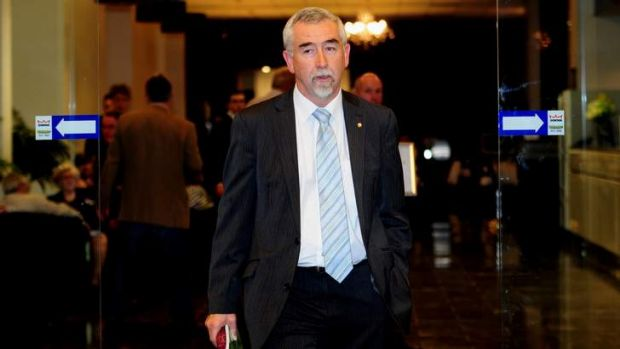 NEWS: Gary Humphries concedes defeat at the Canberra divisional council, Rex Hotel, Canberra. 27th March 2013. Photo by ...