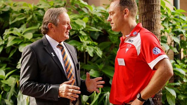 Rivalry: John Longmire and Kevin Sheedy.