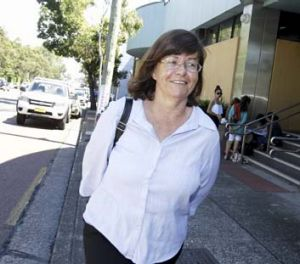 ''It's very hard on both families'': Tracey Jones outside the court.