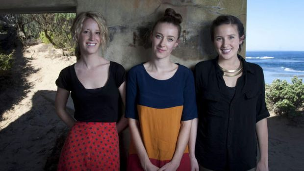Aluka band members Sally Mortensen, Annabelle Tunley and Rachael Head took in the sounds of the ocean when recording at ...