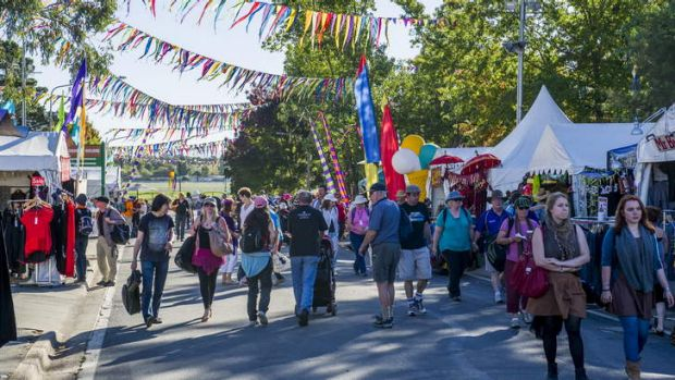 The National Folk Festival is on this long weekend.
