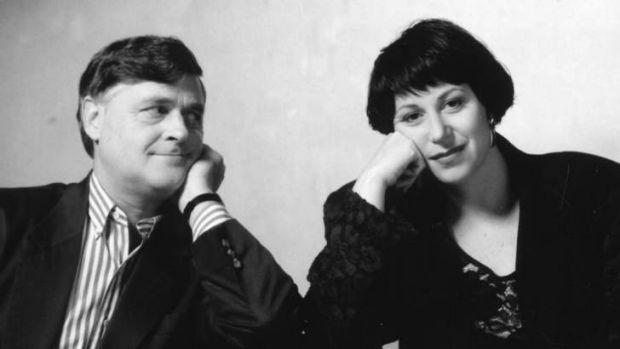 Melbourne University Publishing chief Louise Adler with husband Max Gillies.