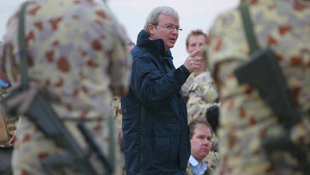 """There was """"incontovertible evidence"""" that Saddam Hussein had wapons of mass destruction: Kevin Rudd."""