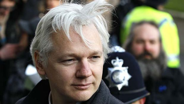 Activist Sven Kamphuis casts himself in the same mould as Julian Assange (pictured).