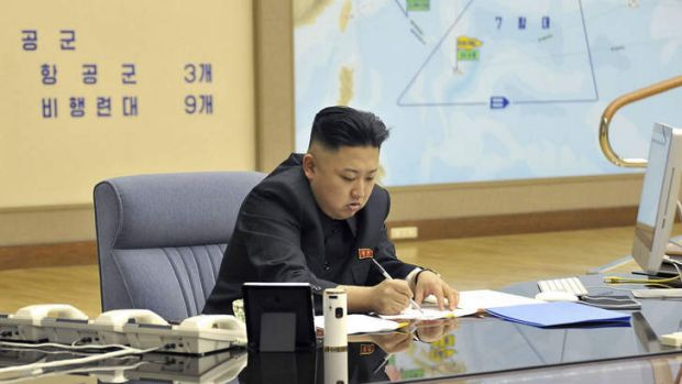This photo taken and released by North Korea's official Korean Central News Agency (KCNA) on March 29, 2013 shows North ...