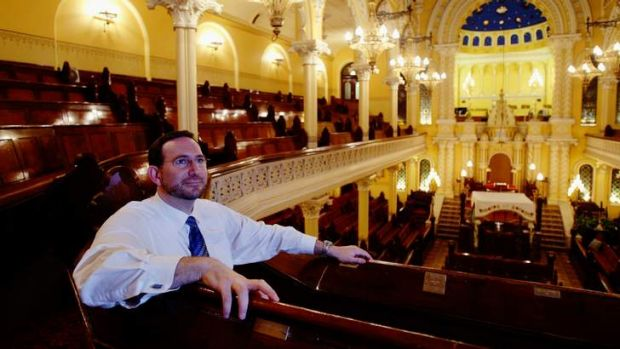 Message of hope: Sydney's Rabbi Jeremy Lawrence.