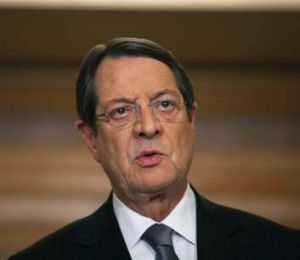 """We will not leave the euro and I stress that"": Cypriot President Nicos Anastasiades."