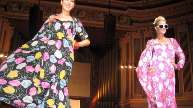 Stunning revival: Models show designs by Missoni.