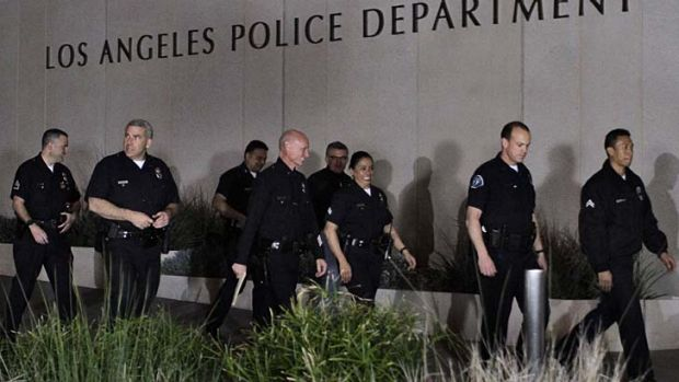 Go figure: Los Angeles police officers.