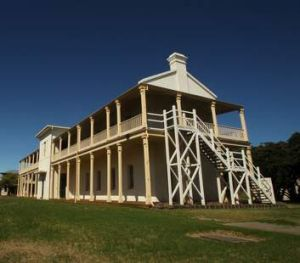A bulding around the old Quarantine Station at Point Nepean National Park.