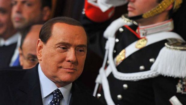 """We were and still are open to giving life to a coalition"": Silvio Berlusconi."