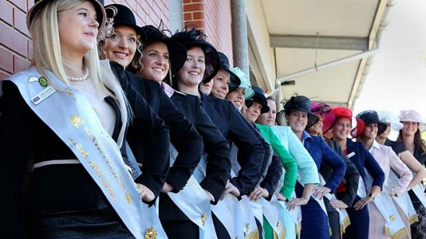 Rural revelation: Finalists in the Land Sydney Royal Showgirl competition.