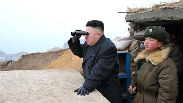 Kim Jong-un: disavowed his country's armistice with South Korea.