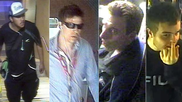 Images of some of the men police are seeking over a series of graffiti incidents in Perth.