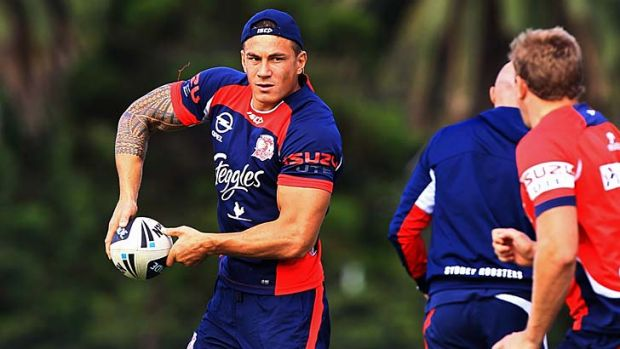 Dangerous: Sonny Bill Williams trains at Moore Park in preparation for Monday night's game.