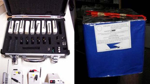 No time to run ... Police have released images of some of the stolen fireworks and equipment.