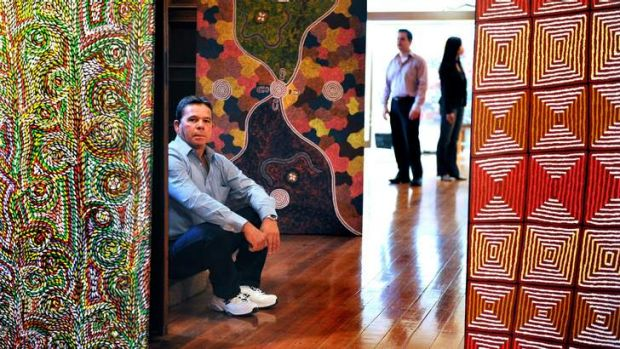 Colin McKinnon-Dodd at Mia Mia Aboriginal Art Gallery.