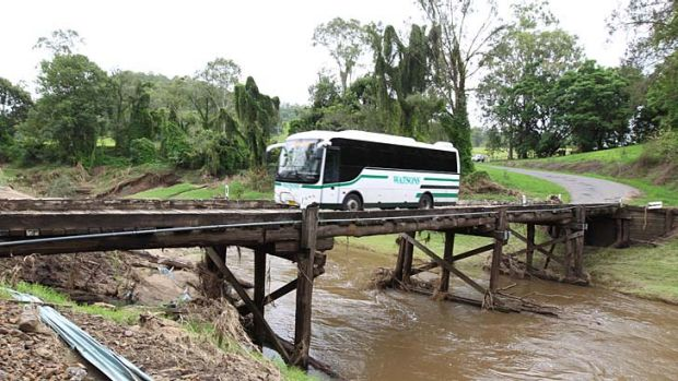 Grieves Crossing, Kyogle, where improvement work is under way.
