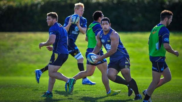 The Brumbies worked hard at training on Monday.