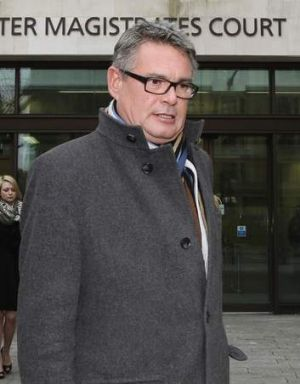 The deputy editor of the Sun, Geoff Webster, attends court over alleged illicit payments last week.
