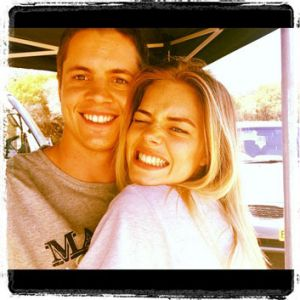 Ruffo sparked rumours of a romance with fellow <i>Home & Away</i> actor Samara Weaving when he posted this photo during ...