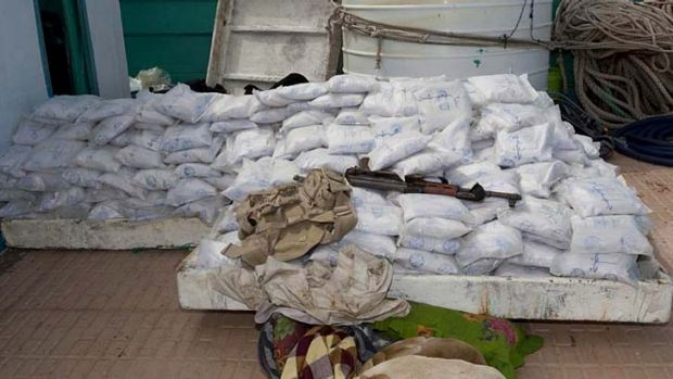 The Australian-led combined task force has intercepted a ship allegedly carrying half a tonne of heroin worth an ...