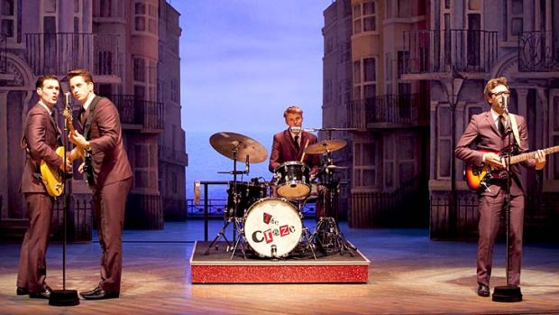 Impromptu show: The Craze performing onstage during <i>One Man, Two Guvnors</i>.