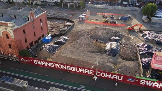 The site of last Thursday's wall collapse, pictured in 2012, has seen a procession of failed developments since being ...