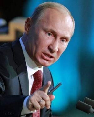Playing hardball: Russia's President Vladimir Putin ordered Cyprus back for more talks.