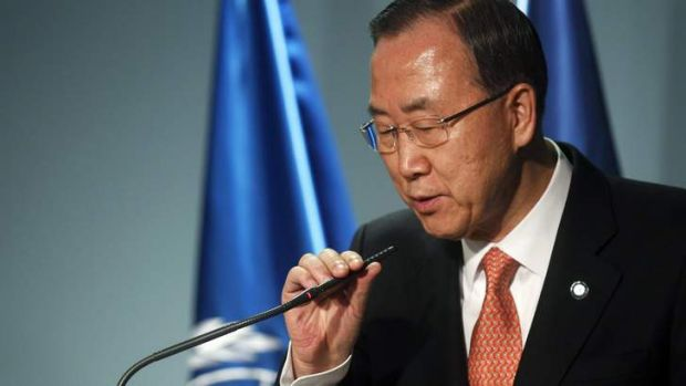 United Nations Secretary-General Ban Ki-moon ordered his top envoy on disarmament affairst to travel to Damascus