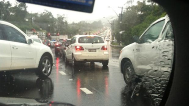 Commuter dramas: traffic is still backed up on Sydney's northern beaches.