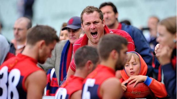 Melbourne fans express their anger at their team's round one capitulation.