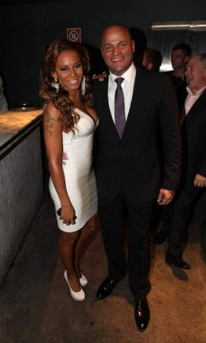 Stephen Belafonte, with wife Mel B.