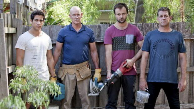 Dads have their day: <i>House Husbands</i> Firass Dirani, Gary Sweet, Gyton Grantley and Rhys Muldoon return for a ...