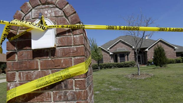 The home of Mike McLelland, who was killed at home with his wife Cynthia.
