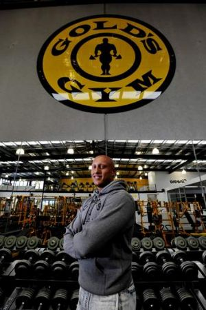 Gold's Gym general manager Christos Kyrgios inside the new gym.